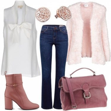 Outfit Giornata in rosa