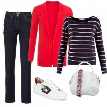 Outfit Il Blazer lungo rosso