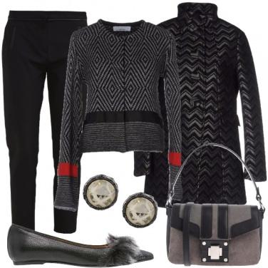 Outfit Gioco di geometrie in nero e grigio