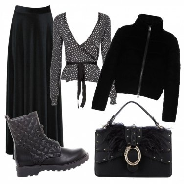 Outfit Apericena in total black