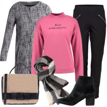 Outfit Pratico cappottino corto