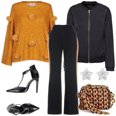 Outfit Il pullover con i pom pon