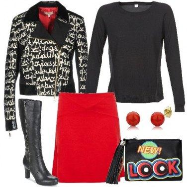 Outfit Il giubbotto con le scritte