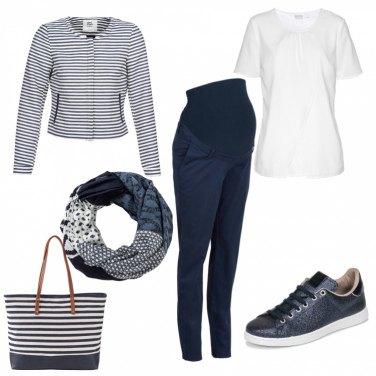 Outfit Blu giorno premaman