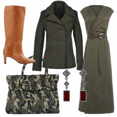 Outfit Verde militare per il giorno e la sera