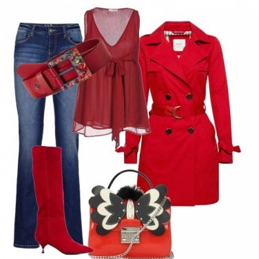 Outfit Appuntamento in rosso