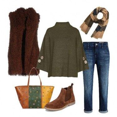 Outfit Basic con sciarpa