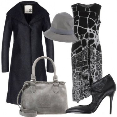 Outfit Eleganza con scala di grigi