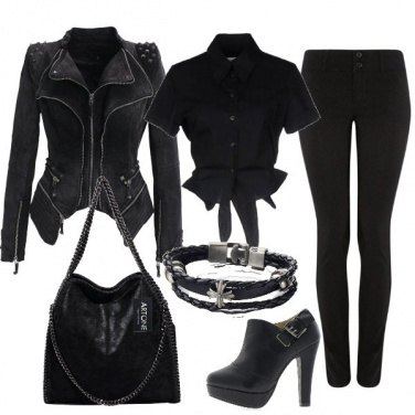 Outfit Nero rock