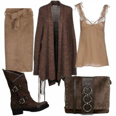 Outfit Caramello e cioccolato