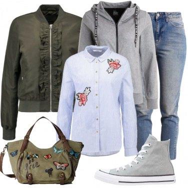 Outfit Farfalle e fiori