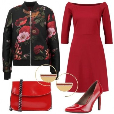Outfit Bomber a fiori