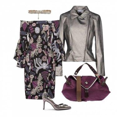 Outfit Effetto metallico