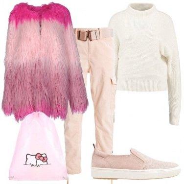 Outfit Sfumature rosa