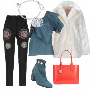 Outfit Pellicciotto bianco