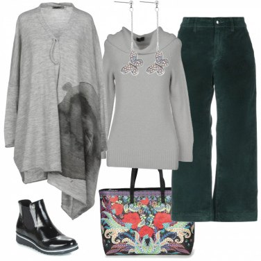 Outfit Pantalone verde smeraldo