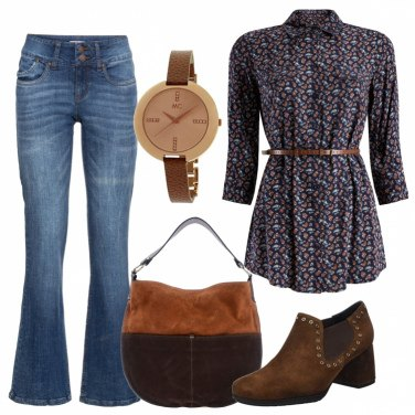 Outfit Boho in jeans