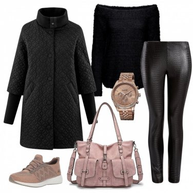 Outfit Black and soft pink