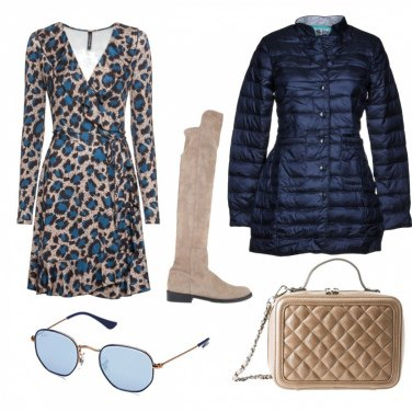 Outfit Animalier in blue