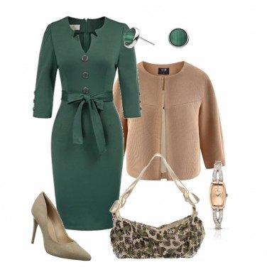 Outfit Elegante con borsa camouflage