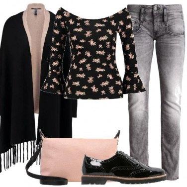 Outfit Romantica in jeans