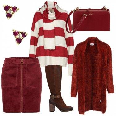 Outfit Bordeaux in ufficio