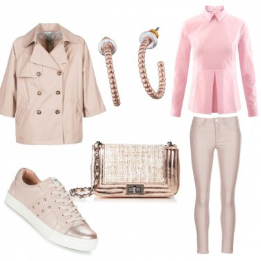 Outfit Neutro sporty chic