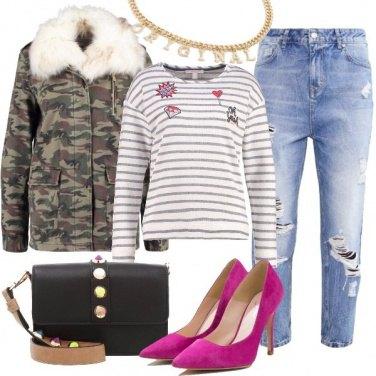 Outfit Mimetica e tacchi