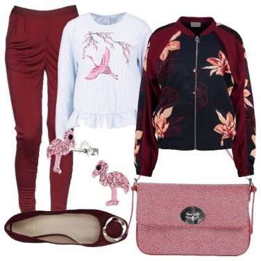 Outfit Fenicottero rosa