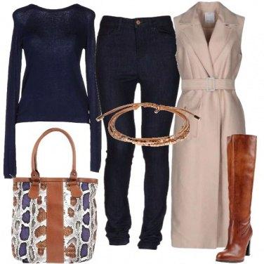 Outfit Cappotto smanicato