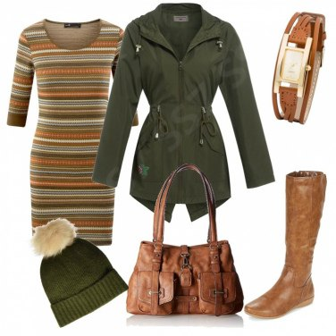 Outfit Brown and Green