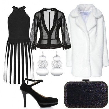 Outfit Black and white a San Valentino