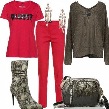 Outfit Basic con accessori effetto pitone