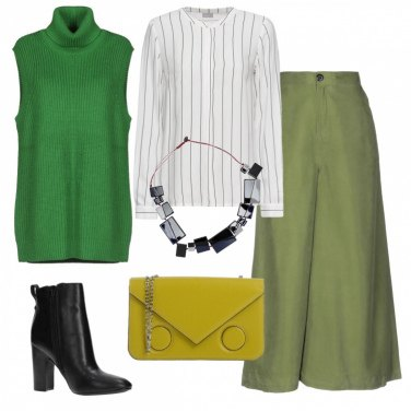 Outfit Il gilet verde brillante