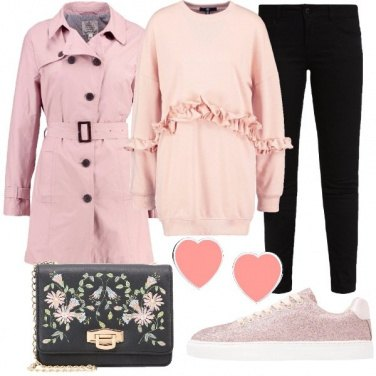 Outfit Romantica e sportiva