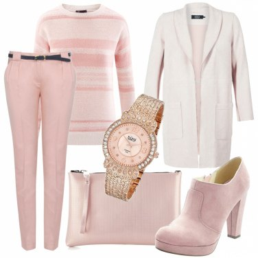 Outfit Righe pastello
