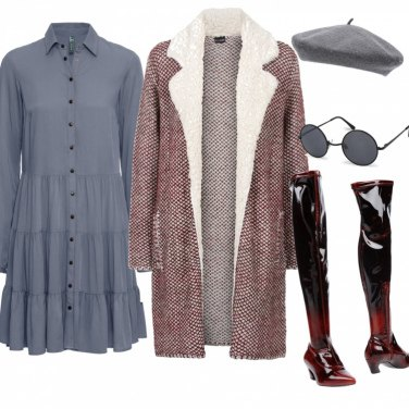 Outfit Chemisier e cappotto