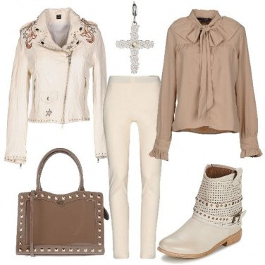 Outfit Rock in beige