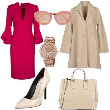 Outfit Il tubino ciliegio