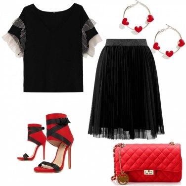 Outfit Tulle e cuoricini