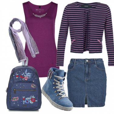 Outfit Gonna jeans Sportiva