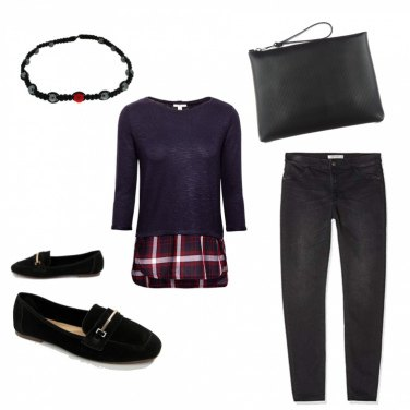 Outfit Righe in black