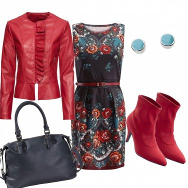 Outfit Rosso passionale