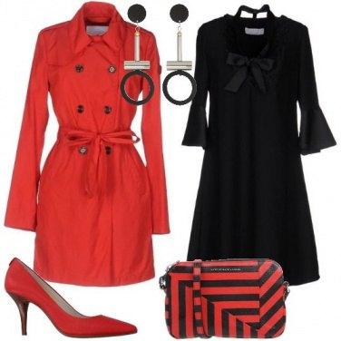 Outfit Bon ton in nero e rosso