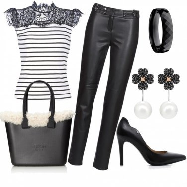 Outfit Righe black and white