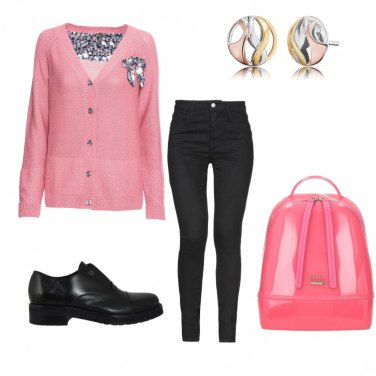 Outfit Black and rose