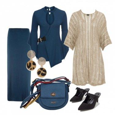 Outfit Completo ottanio con longuette