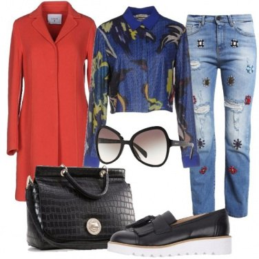 Outfit Jeans decorati
