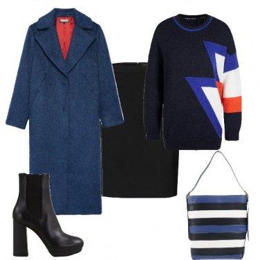Outfit Tubino e cappotto lungo
