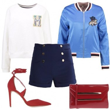 Outfit Bomber e shorts